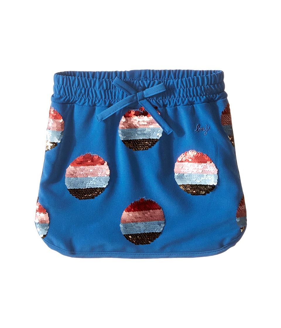 Little Marc Jacobs Crepe Skirt All Over Sequined Toddler/Little Kids Dark Blue Girls Skirt
