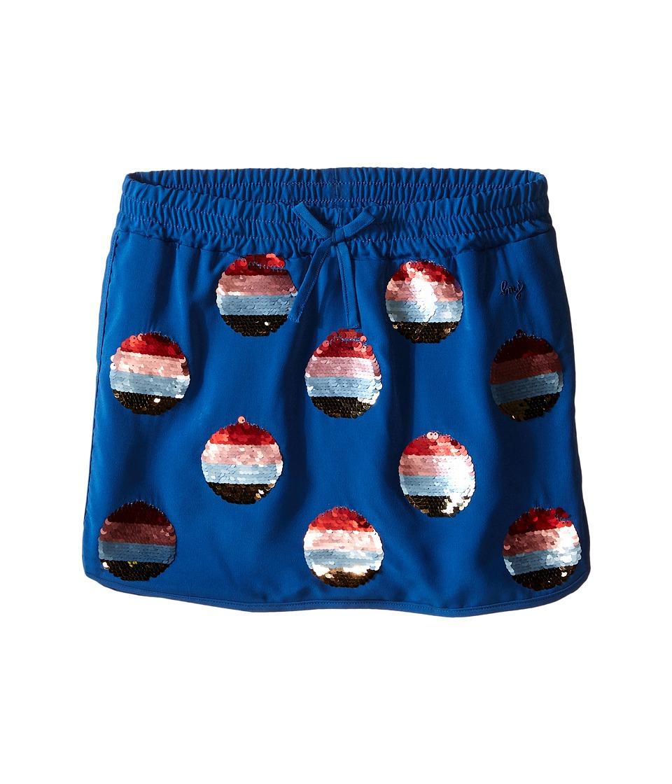 Little Marc Jacobs Crepe Skirt All Over Sequined Little Kids/Big Kids Dark Blue Girls Skirt