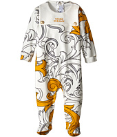 Versace Kids - Macrobarocco Print Footie with Logo and Gift Box (Infant)