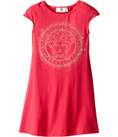 Versace Kids - Dress with Medusa Logo Stone Design (Toddler/Little Kids)