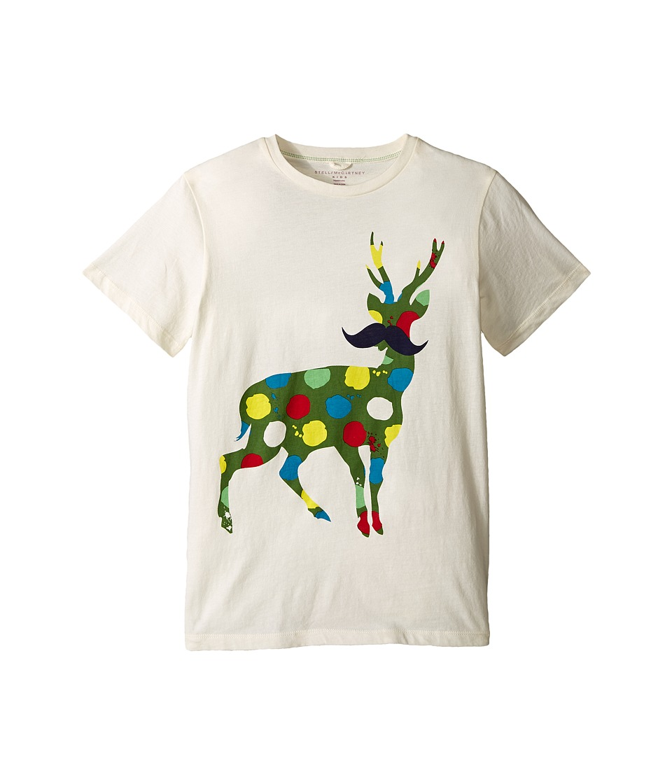 Stella McCartney Kids Arlo Paint Splatter Deer Logo Tee Toddler/Little Kids/Big Kids Cream Boys T Shirt