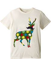 Stella McCartney Kids - Arlo Paint Splatter Deer Logo Tee (Toddler/Little Kids/Big Kids)