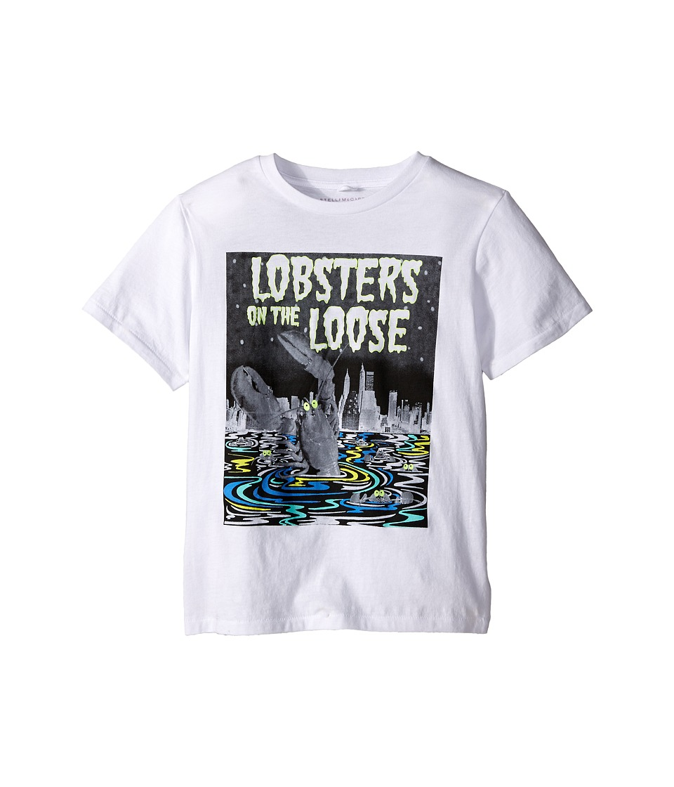 Stella McCartney Kids Arlo Lobster on the Loose Short Sleeve Tee Toddler/Little Kids/Big Kids White Boys Short Sleeve Pullover