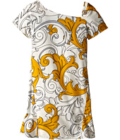 Versace Kids - Macrobarocco Print Short Sleeve Dress (Big Kids)