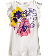Versace Kids - Dress with Medusa and Flower Graphic (Big Kids)