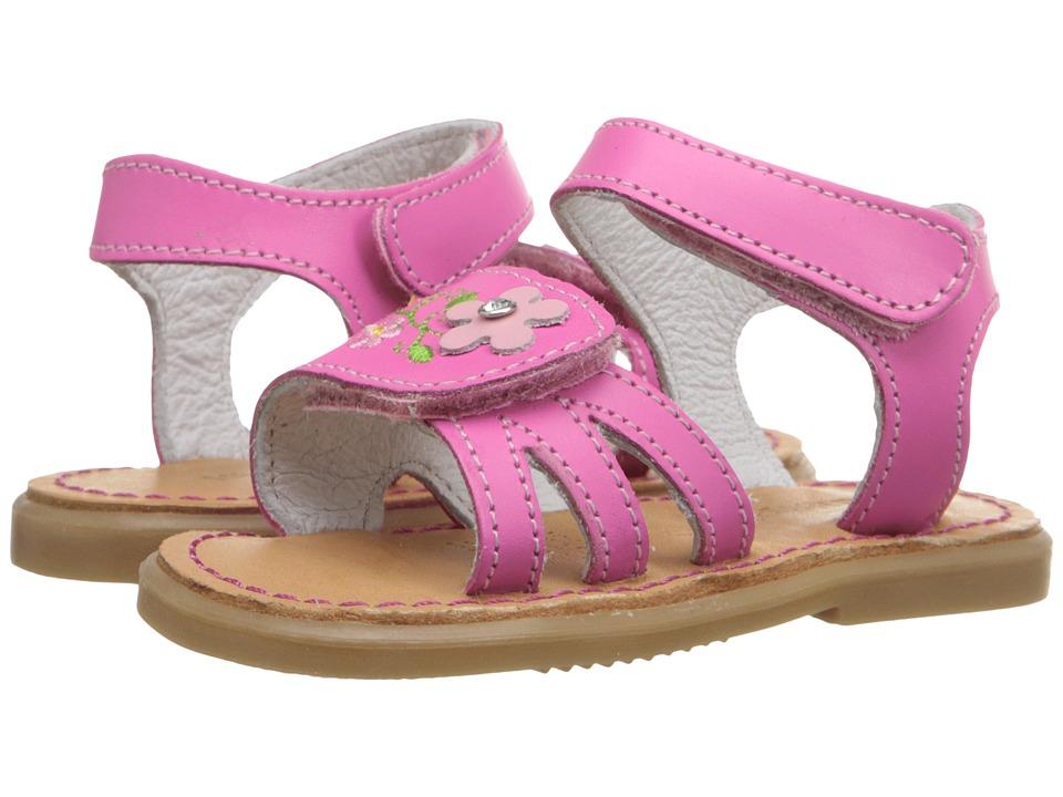 Kid Express Bernardine Infant/Toddler Fuchsia Leather Girls Shoes