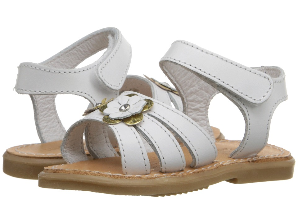 Kid Express Alina Infant/Toddler White Leather Girls Shoes