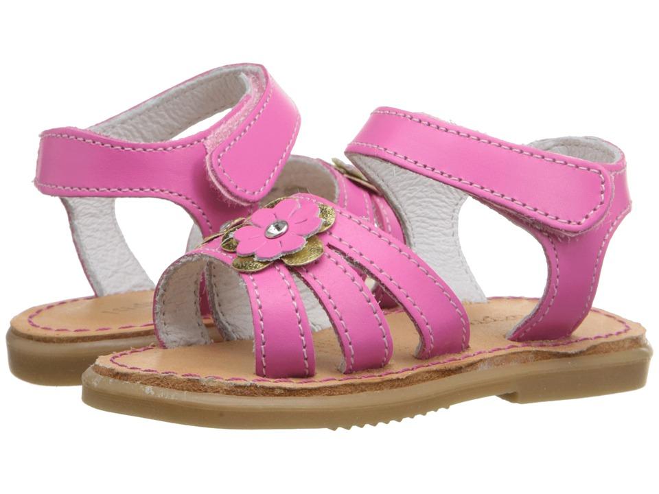 Kid Express Alina Infant/Toddler Fuchsia Leather Girls Shoes