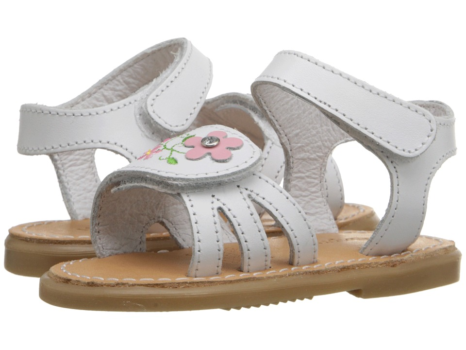 Kid Express Bernardine Infant/Toddler White Leather Girls Shoes