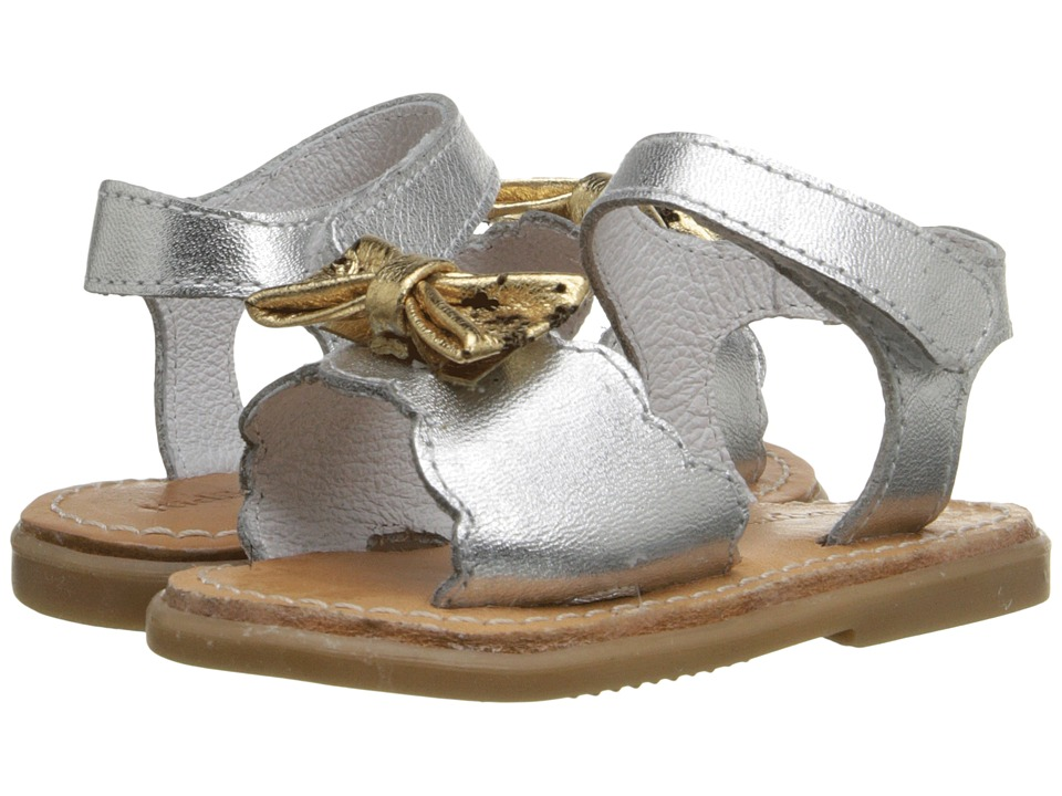 Kid Express Hadley Infant/Toddler Silver Metallic Girls Shoes