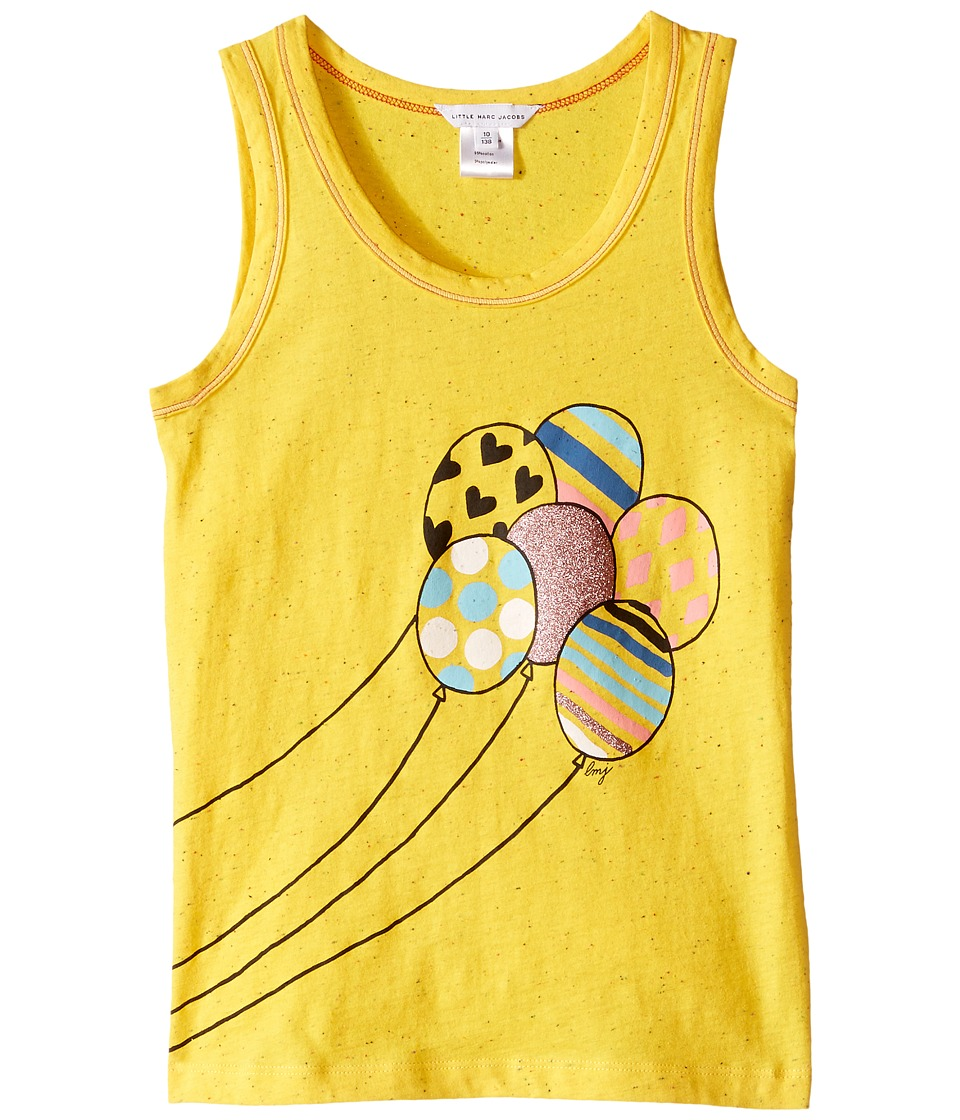 Little Marc Jacobs Jersey Tank Top with Balloons Or Beach Supplies Little Kids/Big Kids Yellow Girls Sleeveless