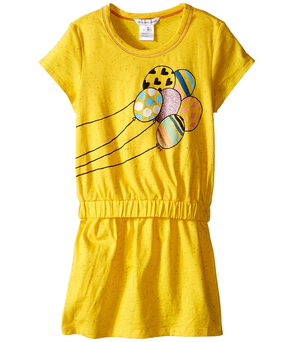 Little Marc Jacobs Jersey Dress with Balloons Toddler/Little Kids Yellow Girls Dress