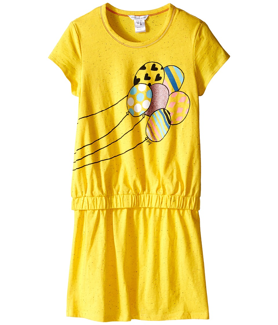 Little Marc Jacobs Jersey Dress with Balloons Little Kids/Big Kids Yellow Girls Dress