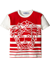 Versace Kids - Striped T-Shirt with Medusa Graphic (Toddler/Little Kids)