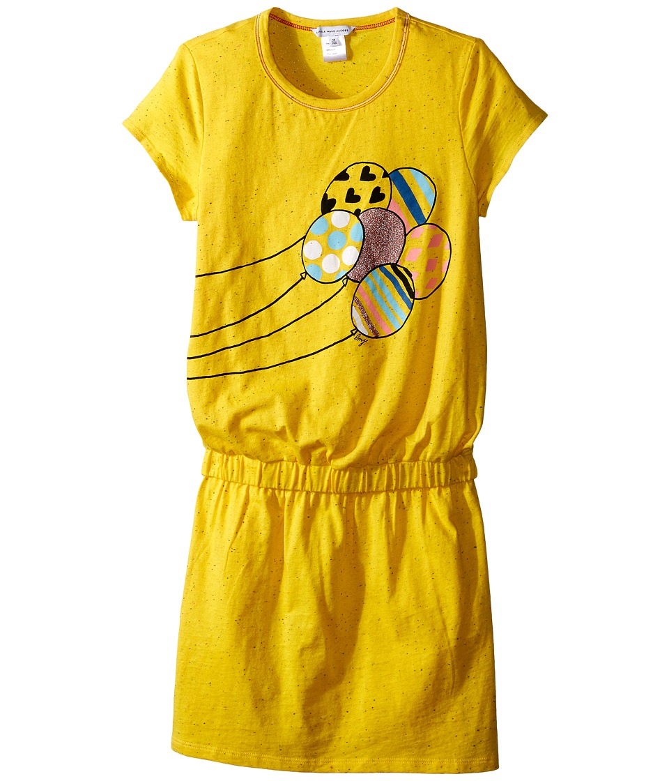 Little Marc Jacobs Jersey Dress with Balloons Big Kids Yellow Girls Dress
