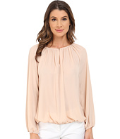 Vince Camuto - Long Sleeve Shirred Neck Peasant Blouse