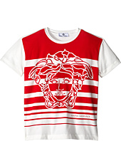 Versace Kids - Striped T-Shirt with Medusa Graphic (Big Kids)