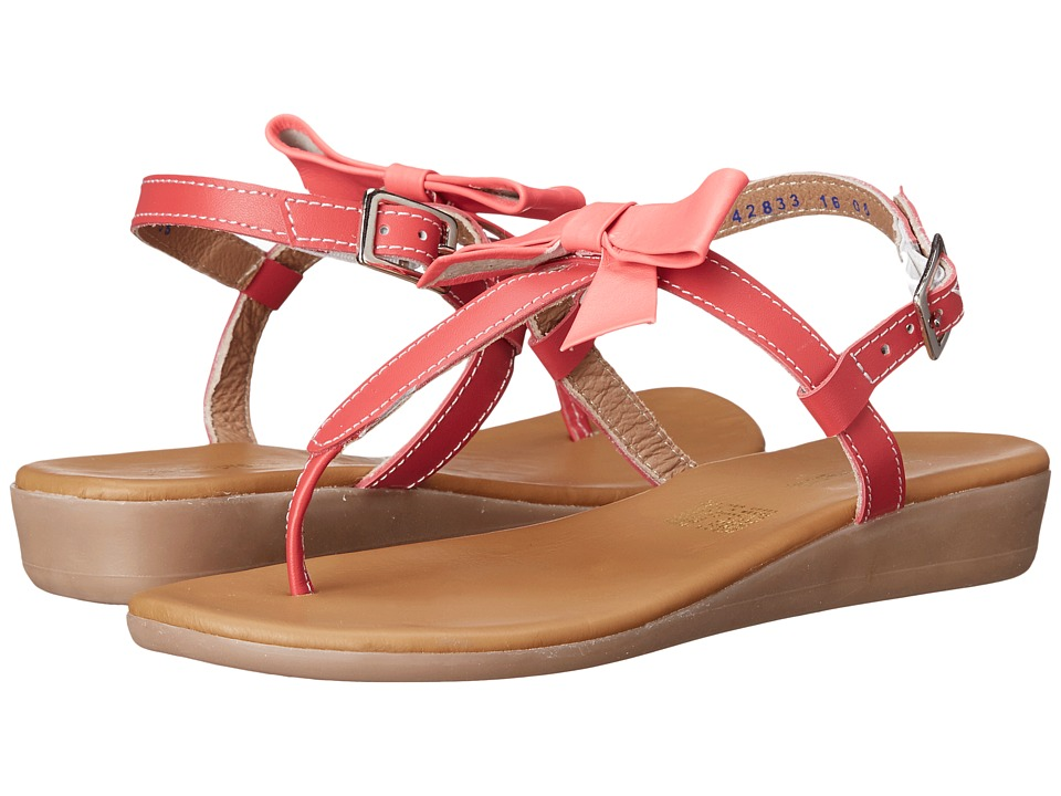Kid Express Paulina Little Kid/Big Kid Coral Leather Girls Shoes