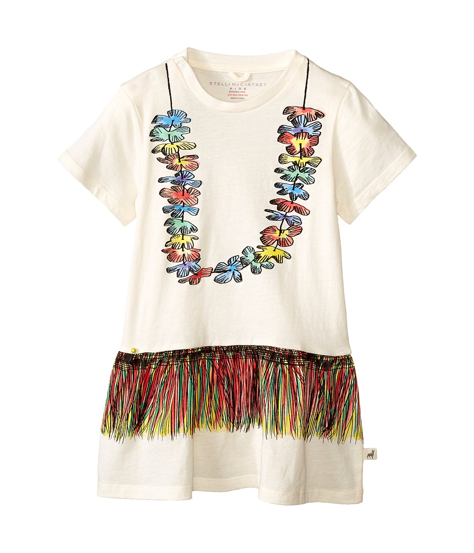 Stella McCartney Kids Bloom Drop Waist Lei Dress Infant Cream Girls Dress