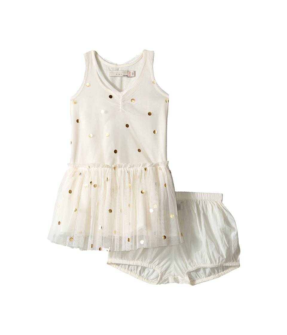 Stella McCartney Kids Bell Polka Dot Tulle Dress Infant Cream Girls Dress
