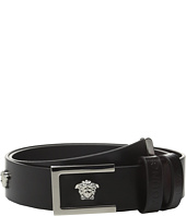 Versace Kids - Leather Belt with Multiple Medusa Logos (Big Kids)