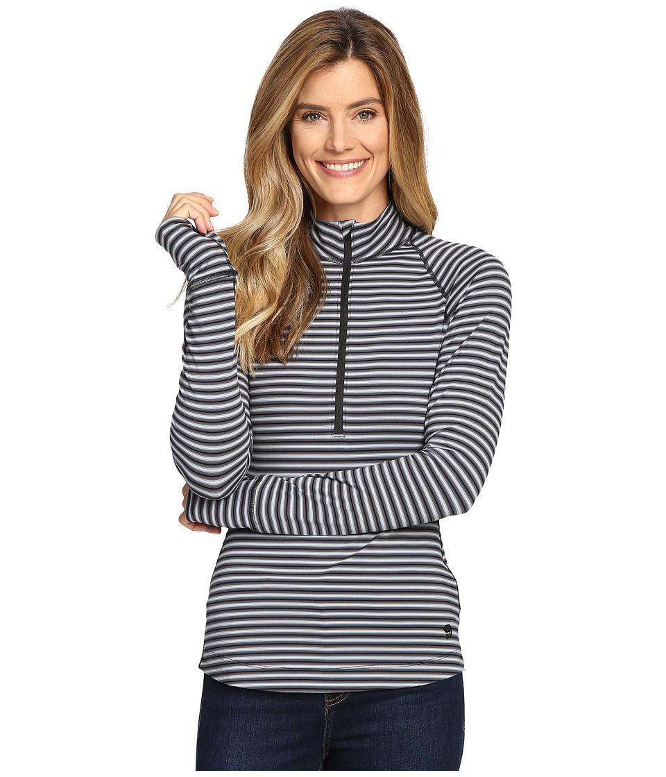 Mountain Hardwear Butterlicious Stripe Long Sleeve 1/2 Zip (Black/Black) Women