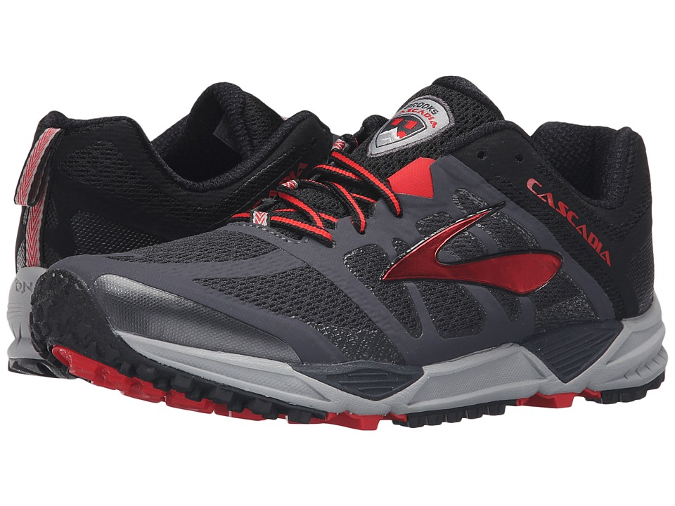 Brooks Cascadia 11 (Anthracite/Black/High Risk Red) Men