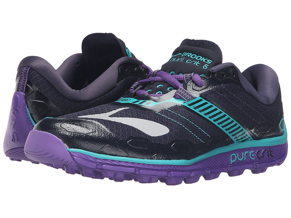 Brooks PureGrit 5 (Peacoat/Passion Flower/Ceramic) Women
