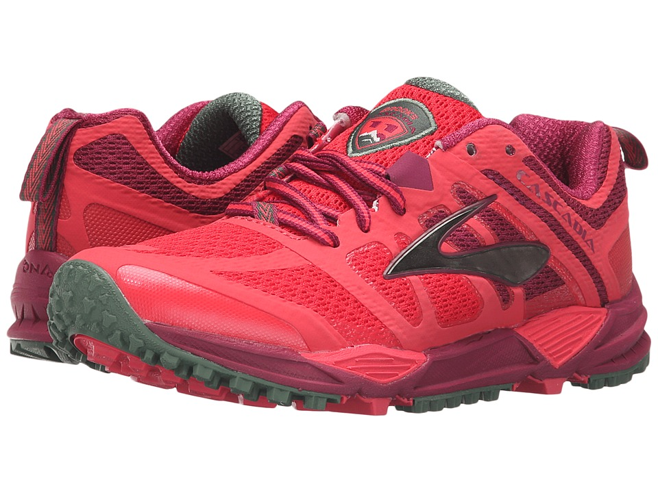Brooks Cascadia 11 (Teaberry/Duck Green/Raspberry Radiance) Women