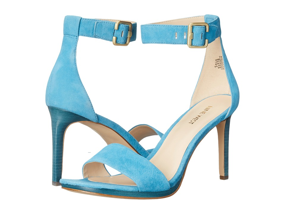 Nine West Meantobe Turquoise Suede Womens 1 2 inch heel Shoes