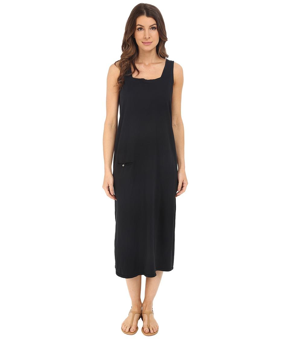 Fresh Produce Square Neck Long Dress Black Womens Dress