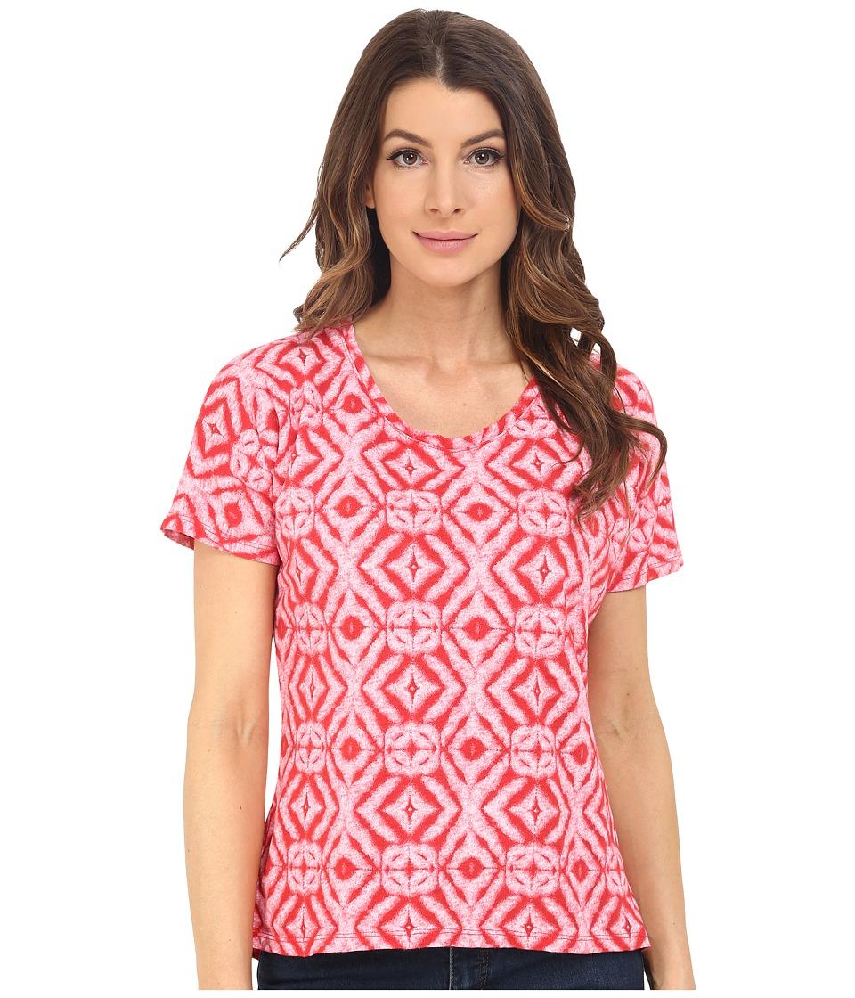 Fresh Produce Shibori Hannah Tee Barn Red Womens T Shirt