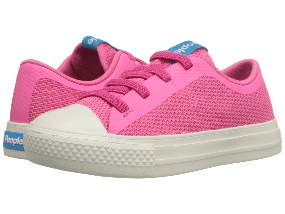 People Footwear - Phillips (Toddler/Little Kid) (Playground Pink/Picket White) Womens Lace up casual Shoes