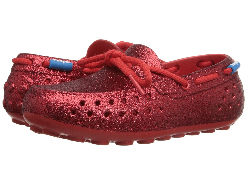 People Footwear Senna Toddler/Little Kid Supreme Red Sparkles Womens Flat Shoes