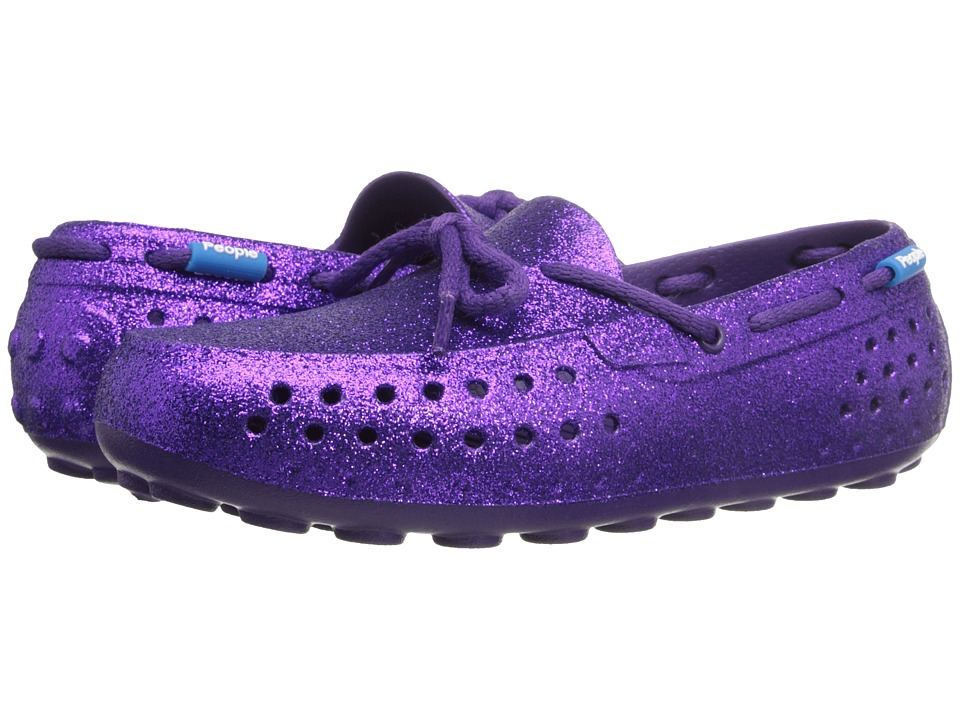 People Footwear Senna Little Kid Crown Purple Sparkles Womens Flat Shoes