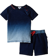 Splendid Littles - Indigo Dip Dye Knit Shorts Set (Infant)
