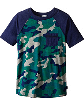 Splendid Littles - Short Sleeve Raglan Tee with Camo (Little Kids)