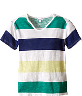 Splendid Littles - Printed Stripe Notch Neck Tee (Toddler)