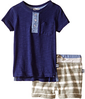 Splendid Littles - Short Sleeve Henley w/ Striped Active Shorts (Infant)