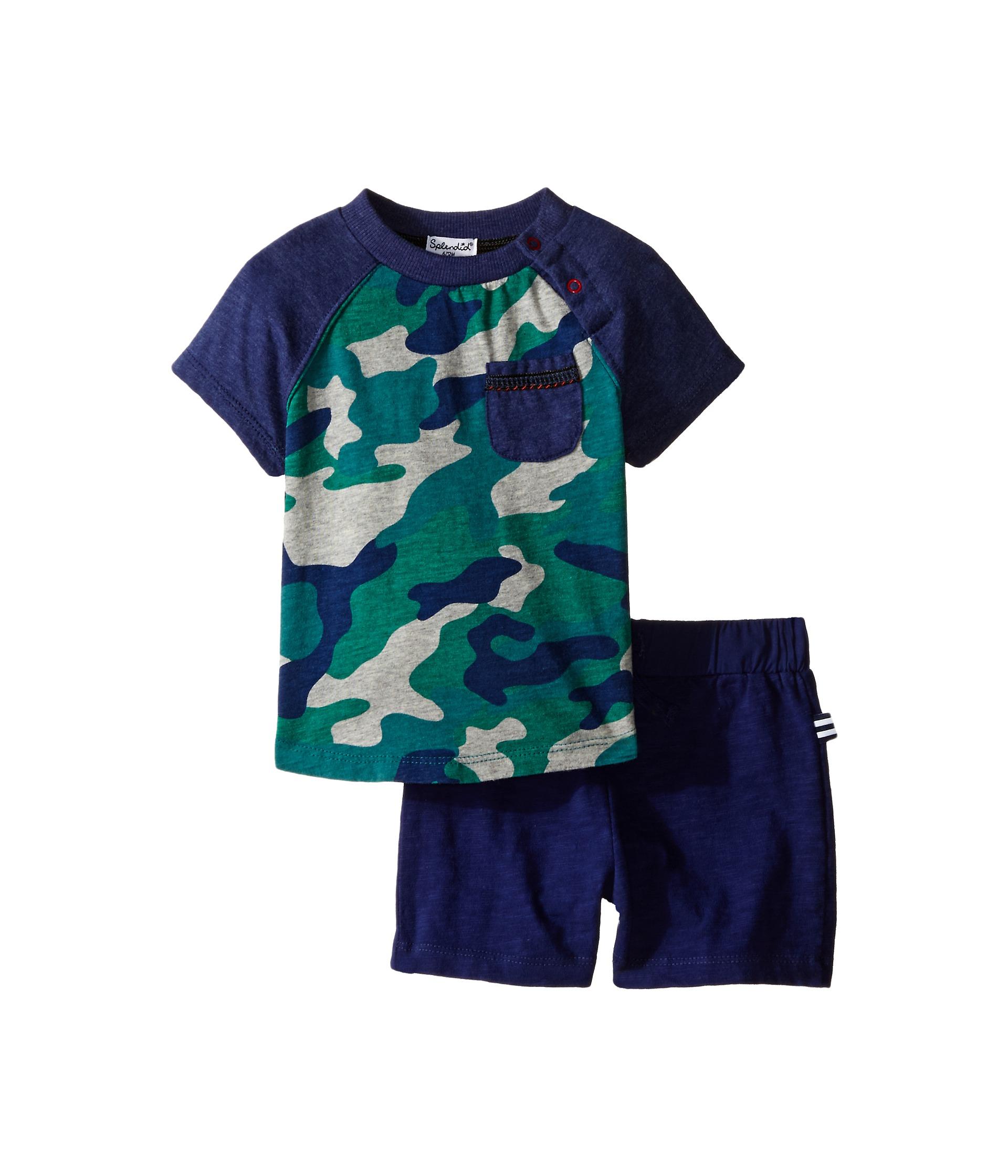 Splendid littles short sleeve camo raglan shorts set for Splendid infant
