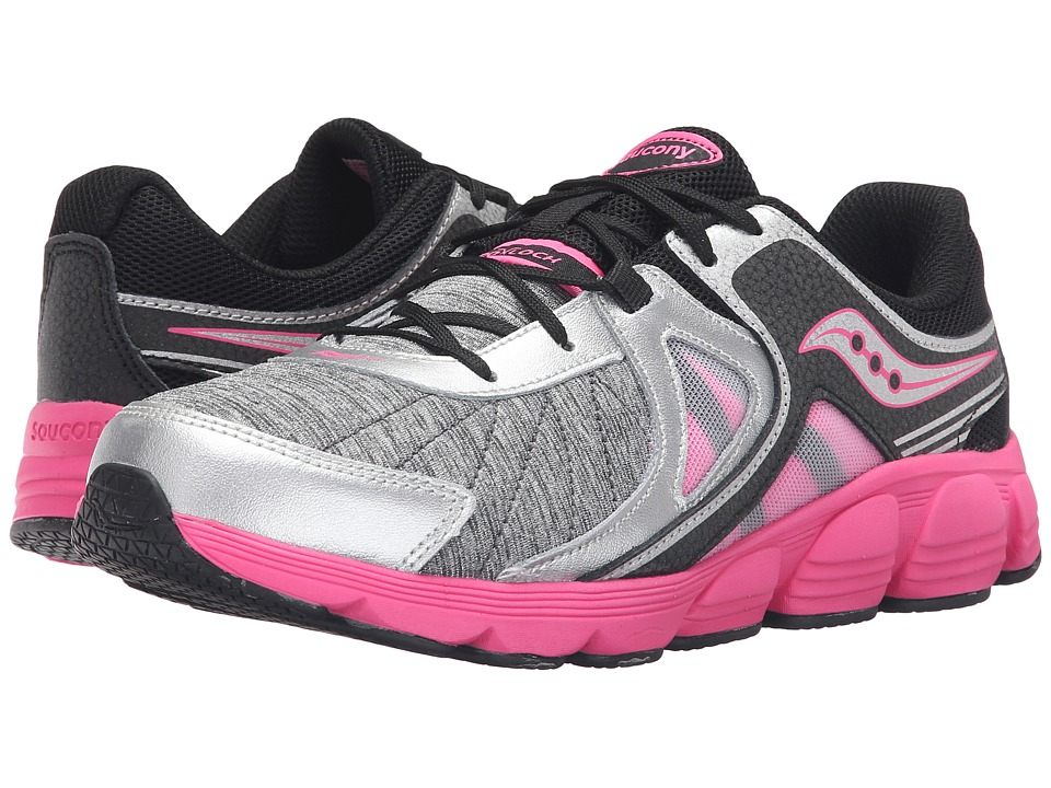 Saucony Kids - Kotaro 3 (Big Kid) (Silver/Black/P Leather/Textile Ink) Girls Shoes