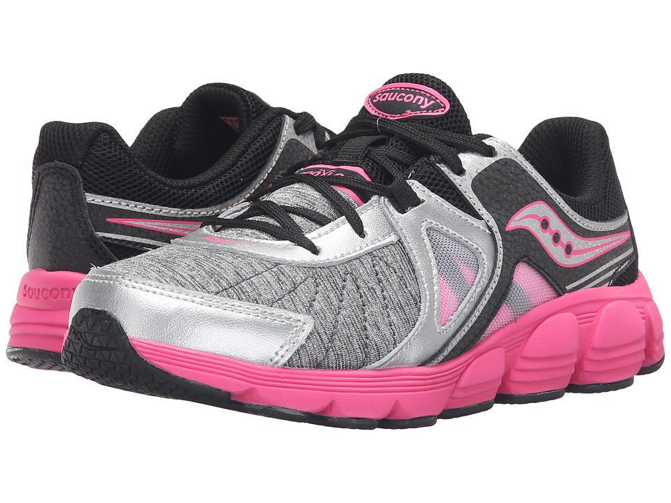 Saucony Kids - Kotaro 3 (Little Kid) (Silver/Black/Pink) Girls Shoes