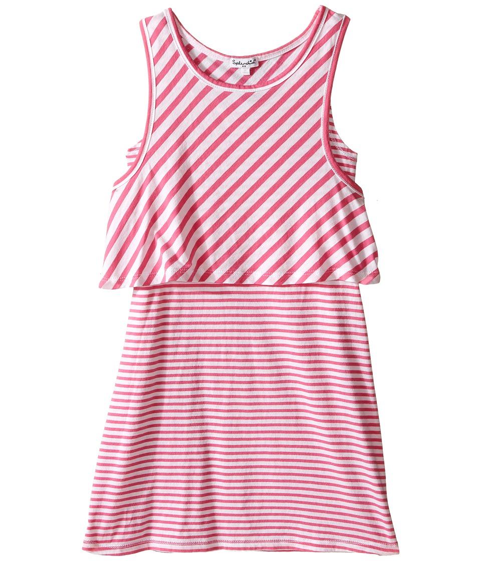 Splendid Littles Yarn Dye Stripe Dress Little Kids Pink Girls Dress