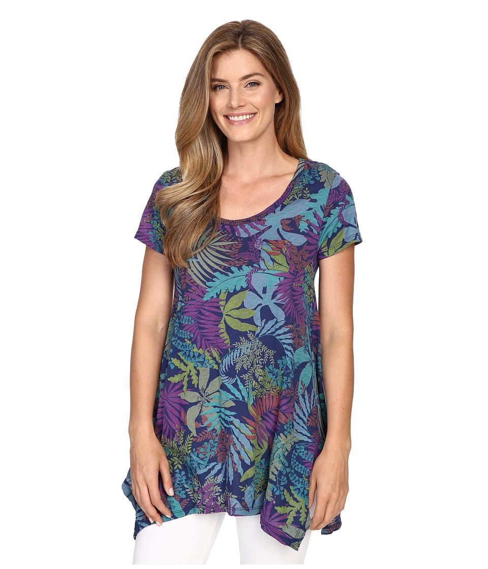 Fresh Produce Vintage Palm Drape Tee Moonlight Womens T Shirt