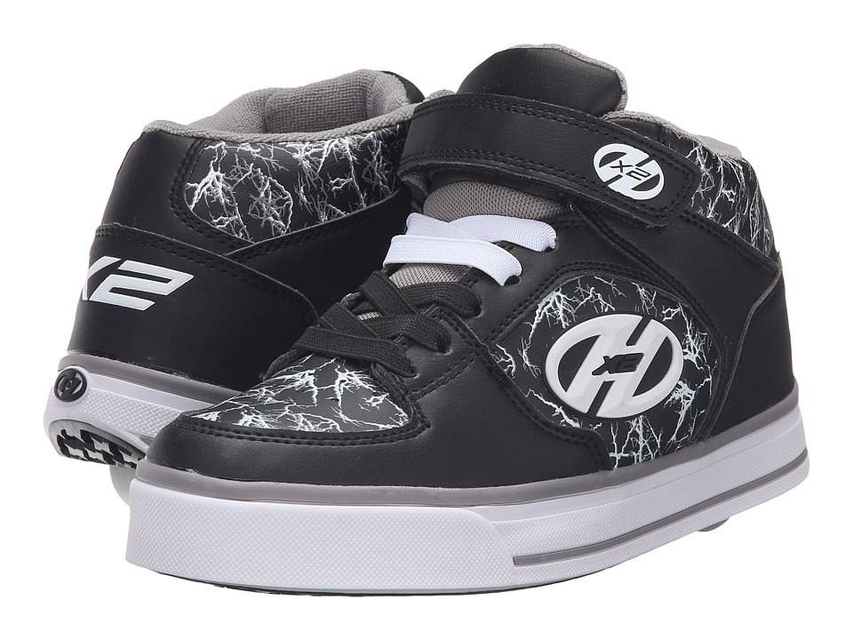 Heelys - Cruz x2 (Little Kid/Big Kid/Adult) (Black/Grey/White/Electricity) Boys Shoes
