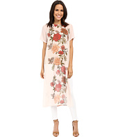 Vince Camuto - Short Sleeve Floral Portrait Panel Long Tunic