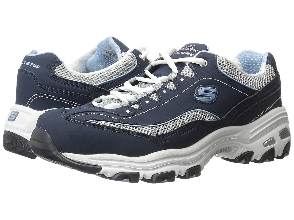 Skechers D'Lites - Life Saver (Navy) Women's Lace up casu...