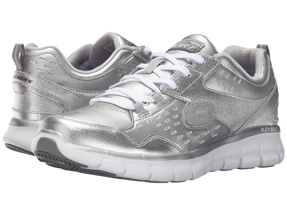 SKECHERS - Synergy - Masquerade (Silver) Womens  Shoes