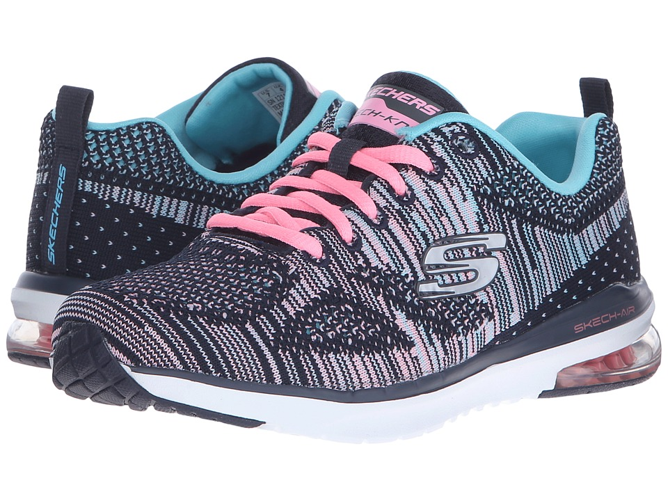 SKECHERS - Skech - Air Infinity - Wildcard (Navy/Mint) Womens  Shoes