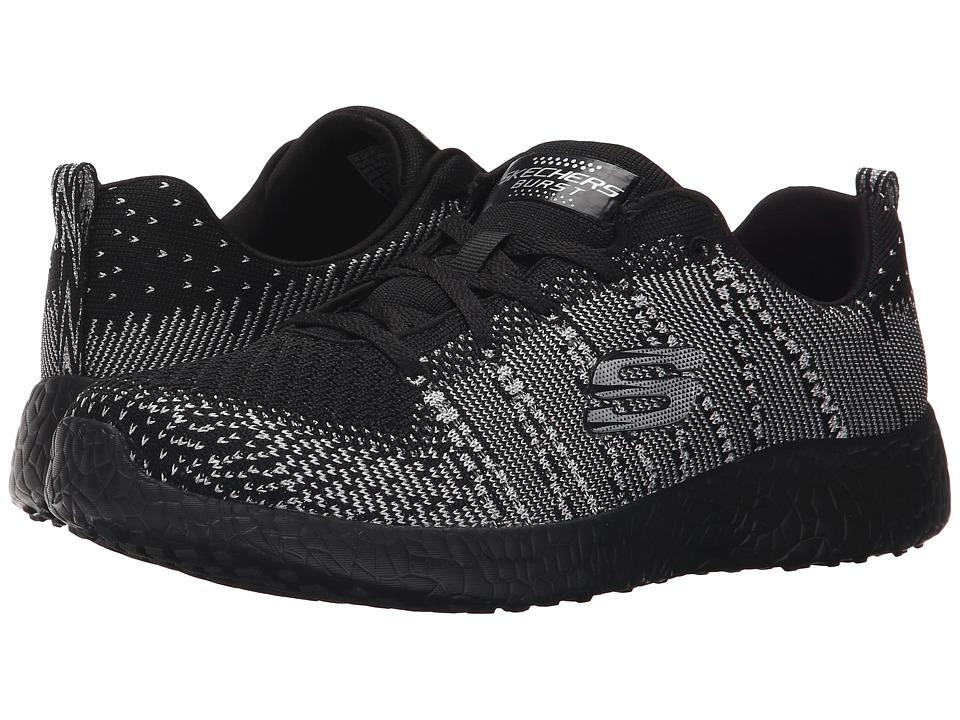 SKECHERS - Burst - First Glimpse (Black/Silver) Womens  Shoes
